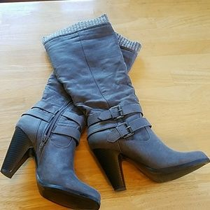 Just Fab Grey Boots